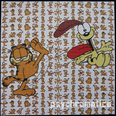 Bicycle day SALE!! ||  LSD BLOTTER ART  ||  Garfield & Odie ||  Heavyweight