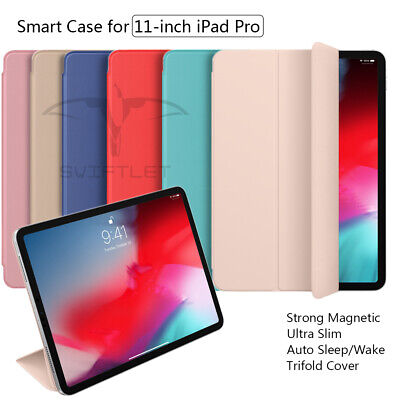 For iPad Pro 11 Inches 2018 Smart Case Folding Folio Magnetic Pencil Charing