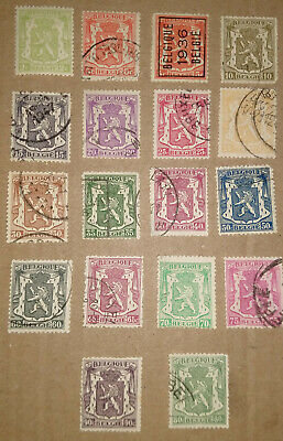 Belgium -  Coat of Arms, Collection, Lot of Old Stamps - Used and Unused