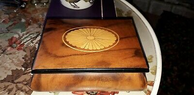 Inlaid Music Box wooden Italian made Waltz of the flowers