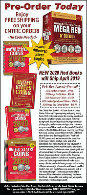 ***Now Shipping*** 2020 Official Red Book Of United States Coins - Hidden Spiral