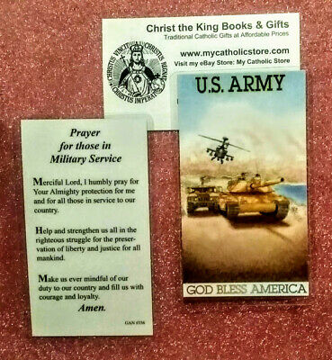 SAINT MICHAEL PRAYER for Those in Military Service Laminated