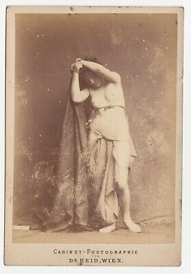 1880s NUDE beauty girl Cabinet PHOTO Risque AKT Dr. Heid Wien Vienna Naked