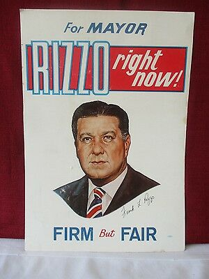 Former Philadelphia Mayor Frank Rizzo Signed Campaign Poster