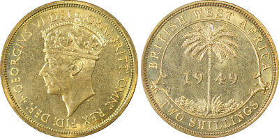 1949-KN British West Africa 2 Shilling PCGS SP65 Ex Rare Kings Norton Mint Proof