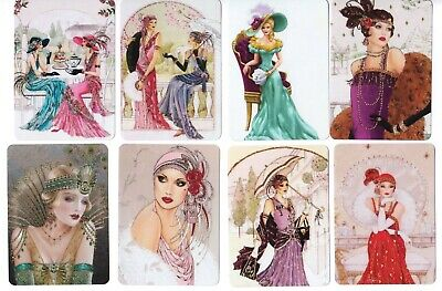 Swap / Playing Card ~ Pretty Ladies ~ Modern Wide ~ 8 Cards