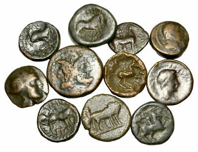 Group of 11 Ancient Greek Bronze Coins (003)