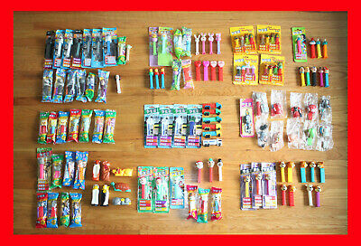 Lot of 121 PEZ DISPENSERS: BONBONS Party Favors BODY PARTS Star Wars Holidays