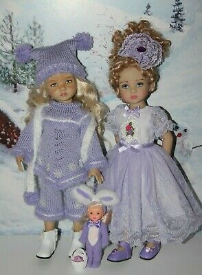 "TWO Outfits FOR Dianna Effner 13"" Little Darling Dolls=Easter Dress+Warm Set=NEW"