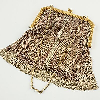 Whiting & Davis Art Deco Mesh Evening Bag, 1920's — Chic. Stylish. High Fashion.