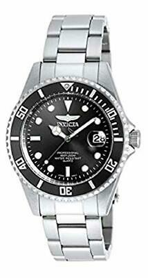 Invicta Men's 8932OB Pro Diver Analog Quartz Silver Dial  Black Stainless 200m
