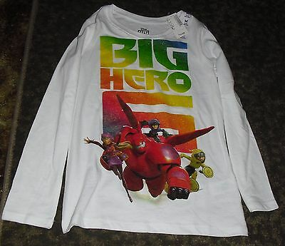 "NWT Disney's Big Hero 6 Long-sleeved Crew neck Pullover, Size Med 7-8, 20"" long"
