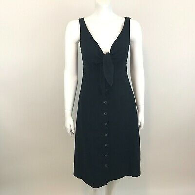 c5c1e89ce7c Universal Thread Goods Target Womens Dress XS Black Sleeveless Linen Blend