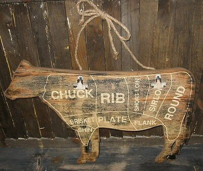 COW Butcher Chart/Message Board*Farmhouse Primitive/French Country Farm Decor