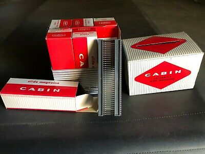 Cabin 36 Slot Slide Film Projector Magazine Tray in Box ~ Lot of 6