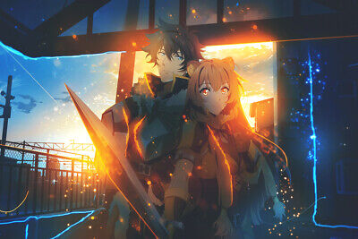 Anime The Rising of the Shield Hero silk print 24 x 14 inch poster