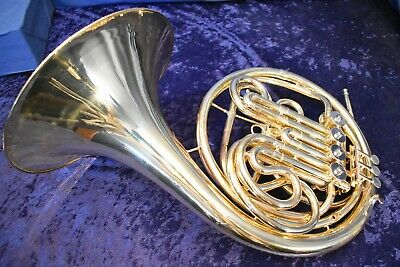Vintage Lorenzo Sansone Model #5 Double French Horn w/Case and Mpc