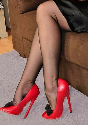 Black Medium by Touchable Nude RHT Full Contrast Stockings