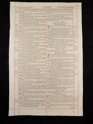1680 Oxford First Folio King James Bible Leaf*psalm 23* The Lord Is My Shepherd