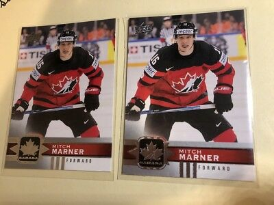 TWO MITCH MARNER # 50 - 2017-18 UPPER DECK CANADIAN TIRE TEAM CANADA Base Card