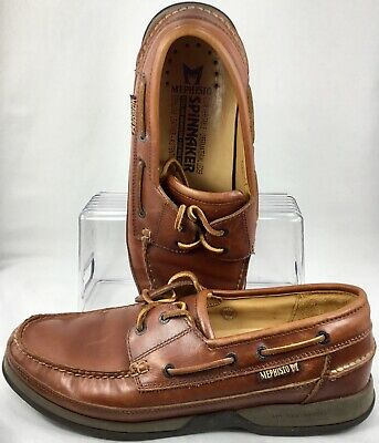 880e05f77d1 Mephisto Spinnaker Boat Shoe Mens 11.5 Brown Leather Deck 2 Eye Lace Up  Portugal