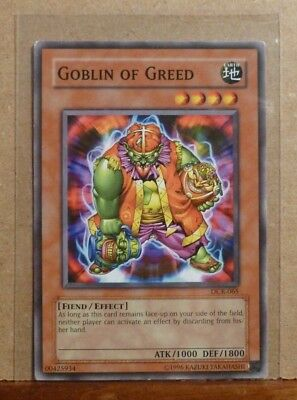 YUGIOH! GOBLIN OF Greed - DR1-EN227 - Common - Unlimited