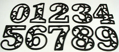 USA SELLER Ornate Cast Iron House Address Numbers 0-9  Rustic Brown Priced Each