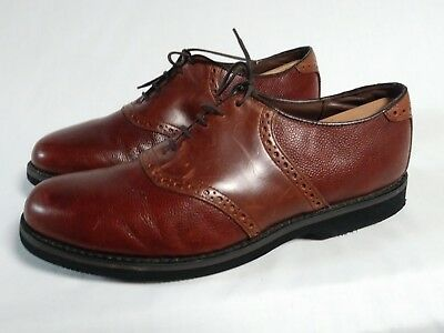 579512b70cd6c DEXTER MEN'S SHOES brown leather saddle oxfords SIZE 10.5 WW VINTAGE MADE  IN USA