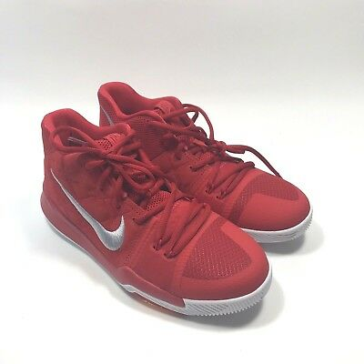 eb93646327b6 Nike Kyrie 3 University Red Suede GS Grade School Size 5y 859466 601 New