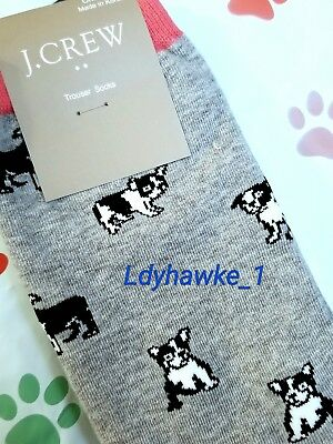 5c8c976cf4e J Crew Cute French Bulldog Frenchie Womens Trouser Socks Dog Lover Gift