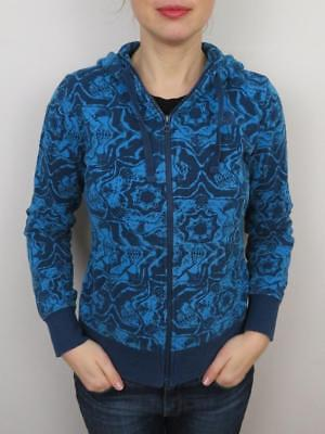 7c735a504168 The North Face Womens Hoodie Sweatshirt Fleece Small Jacket Blue Floral  Full Zip