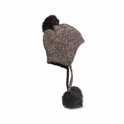 807a11fe681e3 Ugg Tri Pom Cashmere Port Heather Hat Toscana Women s One Size With Tags New
