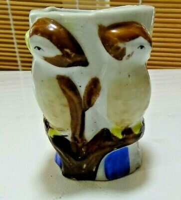 Vintage Retro China Egg Cup of Toothpick Holder - Love Birds