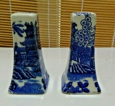 Vintage Japanese Blue and White China Salt and Pepper Shakers
