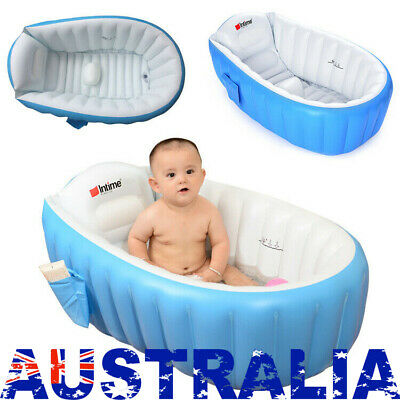 Inflatable Safety Infant Baby Kids Bath Tub Travel Infant Washing Compact New