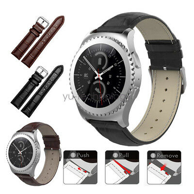 20mm Crocodile Leather Watch Band Strap Wristband For Samsung Gear S2 Classic
