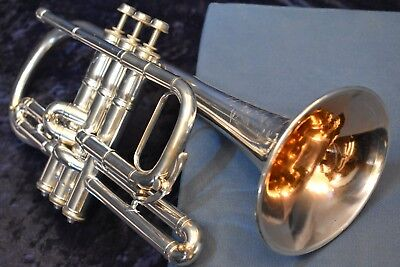 "1905 C G Conn ""Conn-Queror"" Cornet (Trumpet), Bb and A w/Case,Mpc"