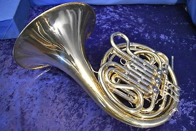"Holton H-77 (became the 179) ""Farkas"" Symphonic Double French Horn w/Case, Mpc"