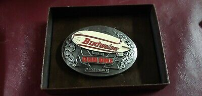 VINTAGE 1990's  BUDWEISER BUD ONE AIRSHIP BEER BELT BUCKLE NIP