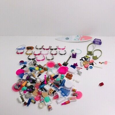 Bratz Dolls Accessories, Surfboard, Glasses, Food And Lots More.