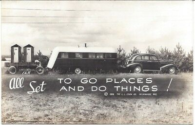 1938 All Set To Go Places And Do Things Postcard