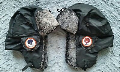 88d91b492 NEW CHICAGO BEARS Trapper Bomber Aviator Russian Earflap Vintage Patch Hat