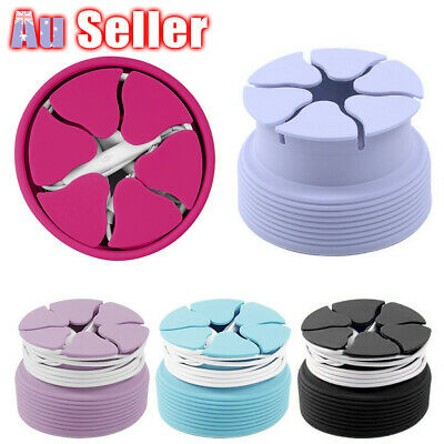 Silicone Stretch 5PO Case Mini Earphone Holder Earbud Storage Winder Carrying