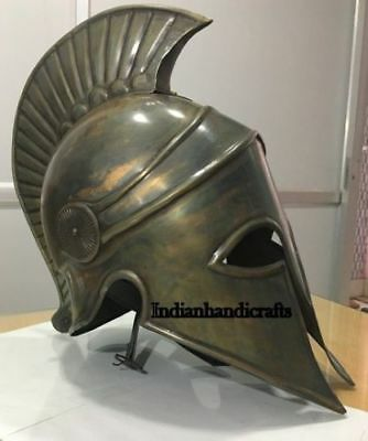 Ancient Greek Spartan Corinthian Bronze Armour Helmet Replica Halloween Style