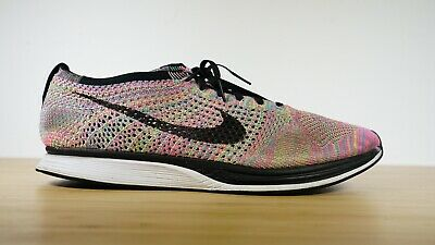 07689a1d1fb9 Nike Flyknit Racer 526628-004 Mens Size 13 2016 Multicolor Running Training  Shoe