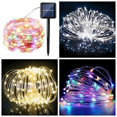 100/200LED Solar String Lights Waterproof Copper Wire Fairy Outdoor/Garden Xmas