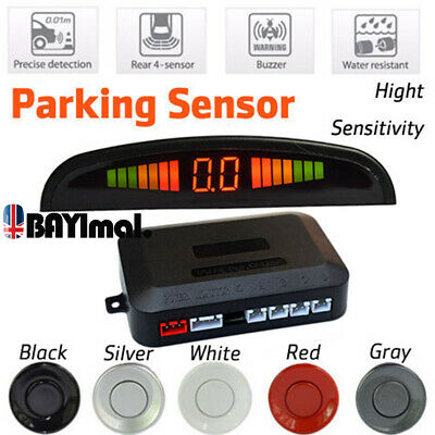 4 Parking Sensor Radar LED Display Car Reverse Buzzer Alarm Aid Kit Radar Backup