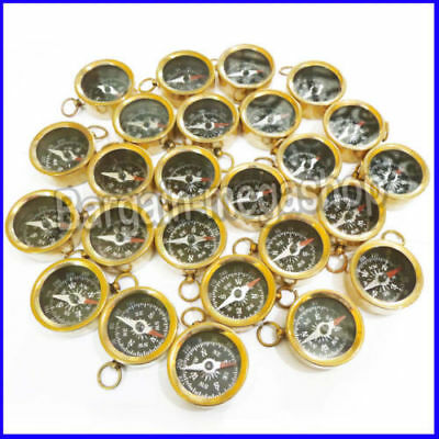 Lot of 10 Brass compass keychain Compass Key ring Marine Nautical Key Ring Gifts