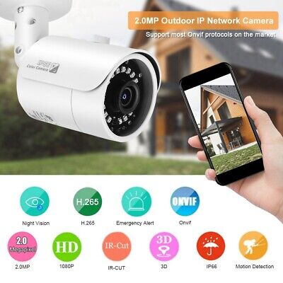 Telecamera IP Camera 2MP HD 1080P Wireless IR ONVIF Motorizzata Impermeabile