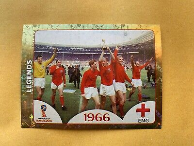 Fifa World Cup 2018 Russia - sticker Number 677 - Legends 1966 - England - Shiny